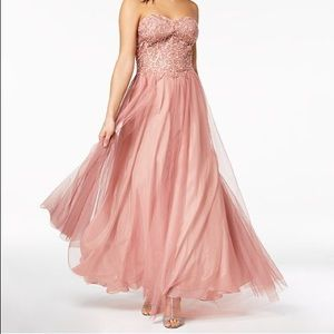 Rose Strapless Blondie Nites Macy's Prom Dress
